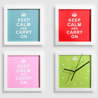 accessoryinlove — Keep Calm and Carry on Combination Wall Clock/Frame