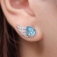 Angel&#x27;s Wings Earrings with Swarovski Elements
