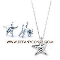 Shopping Cheap Tiffany and Co Elsa Peretti Starfish Earrings and Necklace Set At Tiffanyco925.com - Discount Tiffany Setting