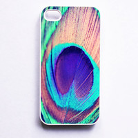 Iphone Case Iridescent Peacock Feather by SSCphotographycases