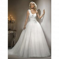 Spring 2012 Tulle Ball Gown Empire Sweetheart Lace up Wedding Dress