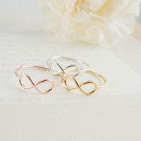 infinity ring us size 5  7 by applelatte on Etsy