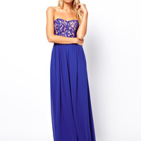 Oasis Lace Bodice Prom Dress
