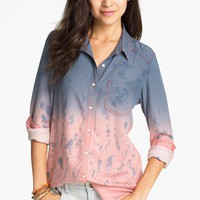 Rubbish Dip Dye Menswear Shirt (Juniors) | Nordstrom