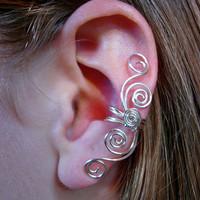 Pair of Silver Plated Multi Swirl Ear Cuffs &quot;Swirls Galore&quot; 2 ear cuffs in this listing