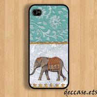 iPhone case IPHONE 5 CASE lace ELEPHANT teal iPhone 4 by DecCase