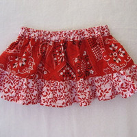 Twirl Skirt Red Bandanna for Baby / Toddler