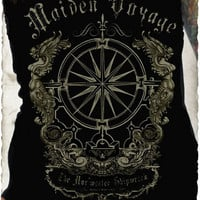 Maiden Voyage Tube Top Serpentine Clothing Punk Rock Steampunk Nautical Pirate Tees Tops Clothing