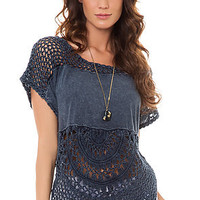 Free People The Bubble Tee in Indigo : Karmaloop.com - Global Concrete Culture