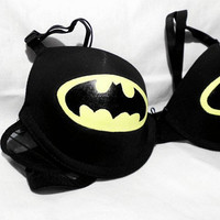 The Batman Logo Bra by SquareCircleTriangle on Etsy