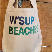 NEW - W&#x27;sup Beaches - Sling Sack Tote - Free Shipping