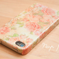 Apple iphone case for iphone iphone 5 iphone 4 iphone 4s iPhone 3Gs : Vintage Rose