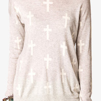 Cross Print Sweater | FOREVER 21 - 2049256961