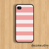 IPHONE 5 CASE - pink STRIP - iPhone 4 case,iPhone 4S case,iPhone caseHard Plastic Case Rubber Case