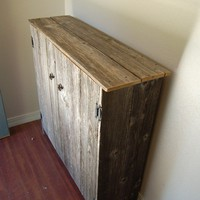 Large Reclaimed Wood Cabinet by TRUECONNECTION on Etsy