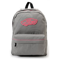 Vans Realm Frost Grey &amp; Neon Pink Backpack