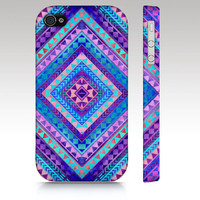 Tribal iPhone case iphone 4 iphone 5 Aztec colorful por RoveStudio