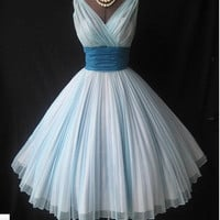 Charming Sweetheart Vintage Chiffon prom dress