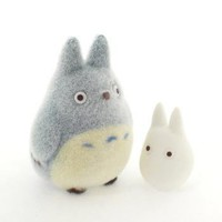 Strapya World : Studio Ghibli My Neighbor Totoro Flocking Doll (Medium Totoro &amp; Small Totoro)