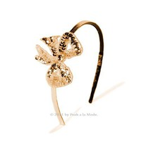 Gold Sequin Bling Bow Headband - Unique Vintage - Cocktail, Evening, Pinup Dresses