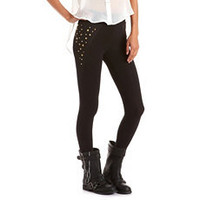 Studded Side Cotton Legging: Charlotte Russe