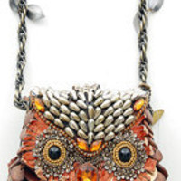 MARY FRANCES What A Hoot Antique Style Purse - Unique Vintage - Cocktail, Evening, Pinup Dresses