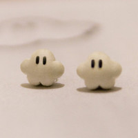 Nintendo Mario Cloud Earrings