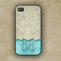 Monogrammed iPhone 4 case Iphone 5 case  Tiffany by ToGildTheLily