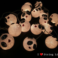Panda cotton dolls String Lights For Wedding and House decoration (20 balls/Set)