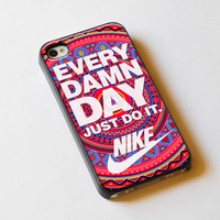 Every Damn Day Just Do It Nike Aztec Pattern For by TlogosariJaya