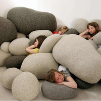 Living Stones Pebble Pillows  (6 Pieces)