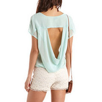 Draped Back Hi-Low Chiffon Top: Charlotte Russe