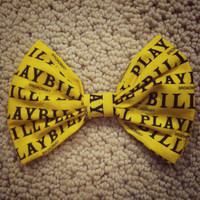 Playbill Hair Bow