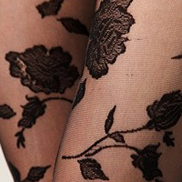 ASOS Flocked Rose Tights at asos.com