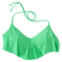 Junior's Ruffle Bandeau Swim Top -Assorted Colors