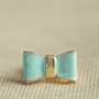 trs jolie bow ring in mint at ShopRuche.com