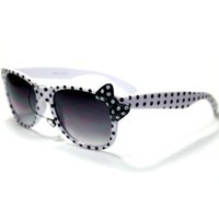 Amazon.com: Sonic S9 Style 3 Retro Vintage Neon Poka Dots Ribbon Wayfarer Style Women's Pool Beach Outdoors Sunglasses with Protective Soft Pouch: Clothing