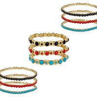Set of 9 Faceted Bead Stretch Bracelets by Garold Miller  QVC.com