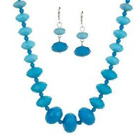 Graduated Faceted Bead Necklace &amp; Earring Set  QVC.com