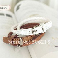 Buy leather bracelets, bracelets jewelery, bracelets, Free Shipping wholesale 12pcs pu Bracelet .fashion imitate leather bracelet belt . Hot ~ Super value 3 colours at Aliexpress.com