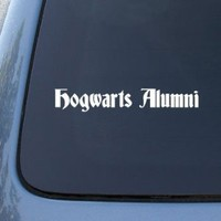 HOGWARTS ALUMNI - Vinyl Car Decal Sticker #A1607 | Vinyl Color: White
