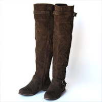 step into suede knee high boots - &amp;#36;59.99 : ShopRuche.com, Vintage Inspired Clothing, Affordable Clothes, Eco friendly Fashion