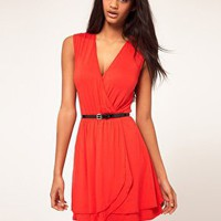 ASOS | ASOS Wrap Dress With Double Skirt at ASOS
