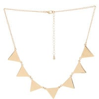 Etched Triangle Statement Necklace | Shop Jewelry at Wet Seal