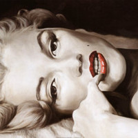 Reclined Marilyn Print by Frank Ritter