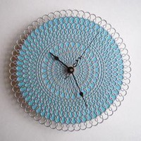 doily clock by andfurthermore on Etsy