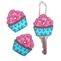 3 Gift Pack - Cute Cupcake Key Cover / Key Cap / Key Chain Girly Car Accessory : Amazon.com : Automotive