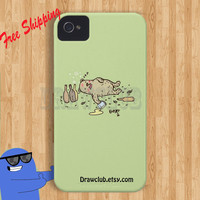 DrawClub IPhoneCase Bear or Beer Case Make to order Drawing By Zhi Free Shipping and Sale  for summer time (only1-30 april)