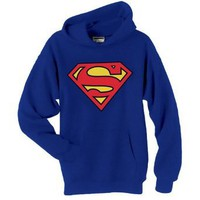 DC COMICS SUPERMAN SHIELD HOODED SWEATSHIRT: Clothing