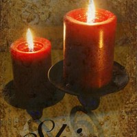 Shine photo with candles and textured background - wall art - christmas 10x15